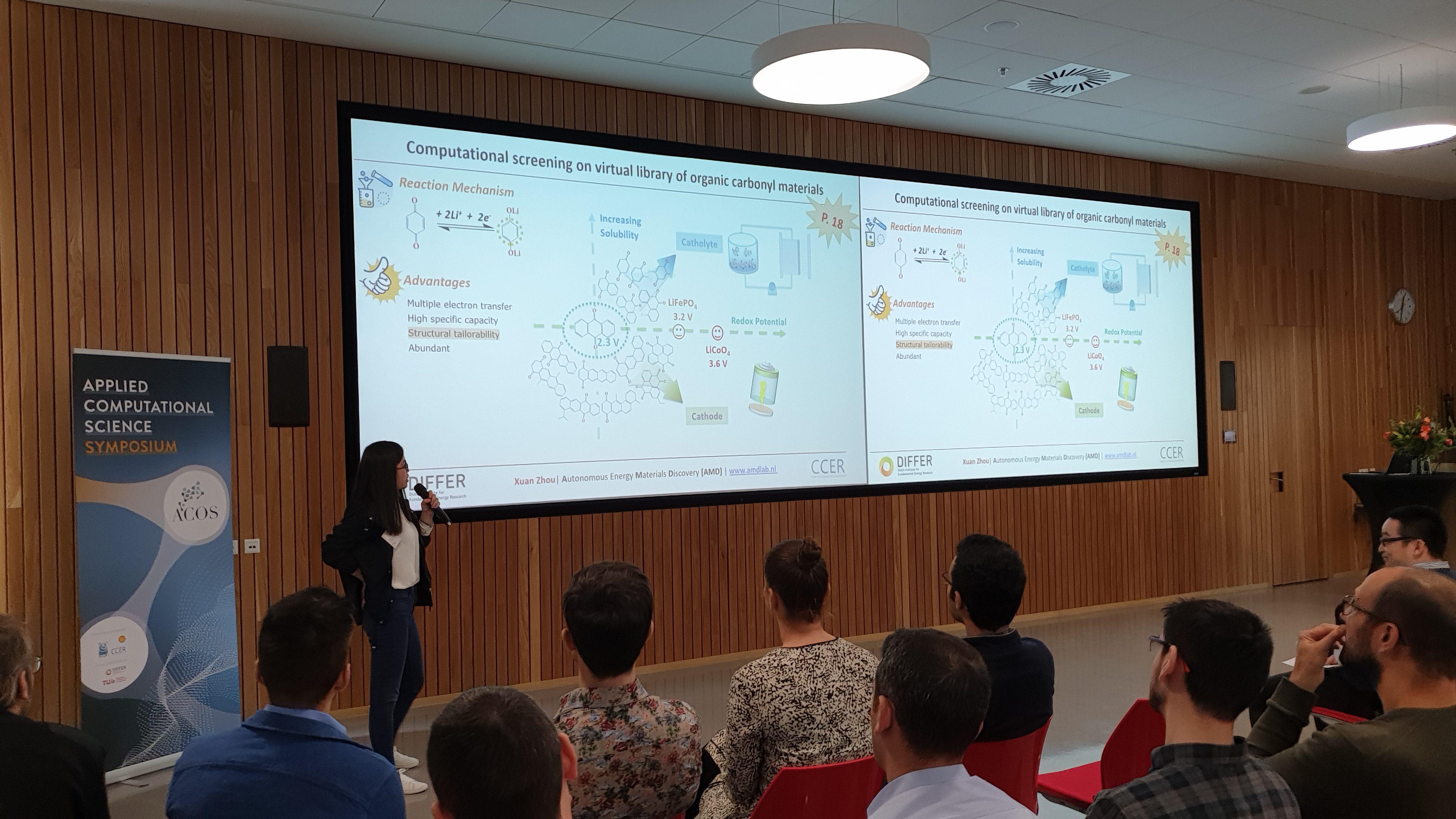 Xuan presenting at ACOS Symposium 2019