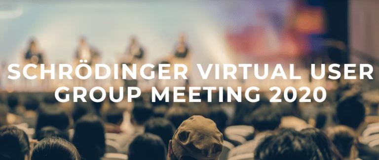 [AMD] group leader Süleyman Er will give a talk at Schrödinger's Virtual UGM 2020